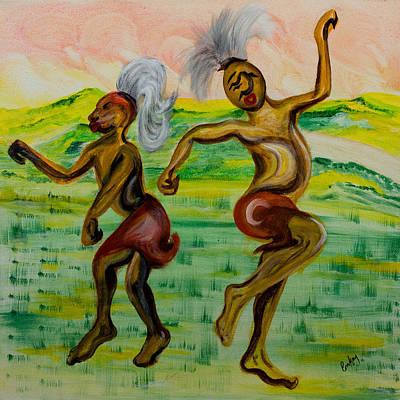 African Dance Art Print by Emma Kinani