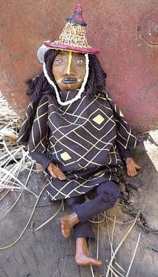 African Doll From The Fulani Tribe Original