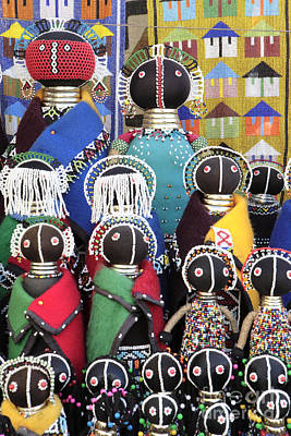 African Dolls Art Print by Neil Overy