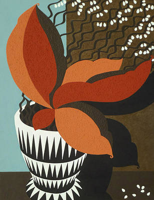 Verandah Painting - African Drum Vase by Susan Lishman