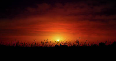Photograph - African Dust Sunset by Mark Andrew Thomas