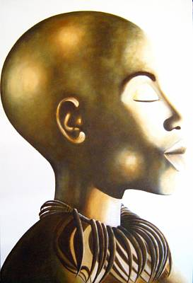 Painting - African Elegance Sepia - Original Artwork by Tracey Armstrong