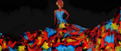 Afro Mixed Media - African Elegance by Sharonda Scott