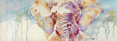 Painting - African Elephant _ The Governor by Stephie Butler