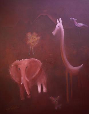 African Elephant Art Print by Charles Stuart