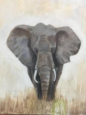 Mixed Media - African Elephant by Elaine Callahan