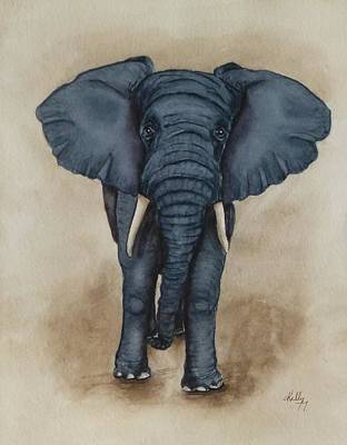 Painting - African Elephant by Kelly Mills