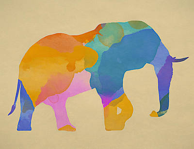 Painting - African Elephant Watercolor by Dan Sproul