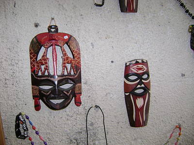 Photograph - African Face Masks by Moshe Harboun