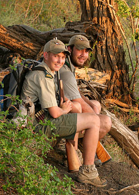 Photograph - African Game Guides by Joseph G Holland
