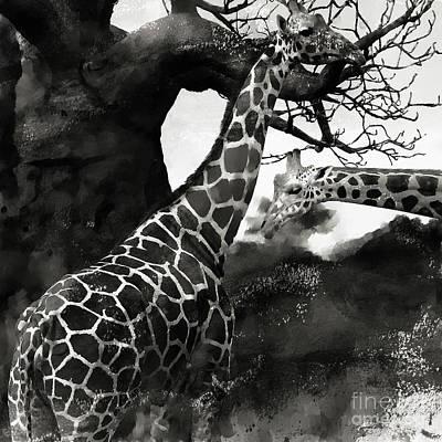 Legs Painting - African Giraffe  by Gull G
