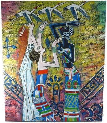 African Girls Art Print by The Art Markets
