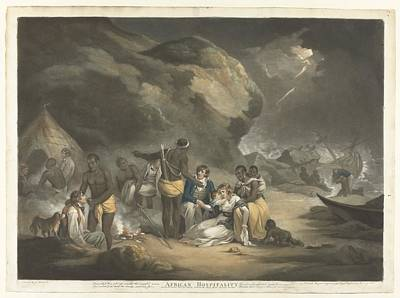 African Hospitality, John Raphael Smith, After George Morland, 1762 - 1812 Art Print by Celestial Images