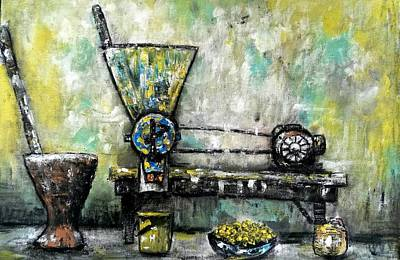 Tempera Mixed Media - African Kitchen  by Adedeji Olufemi