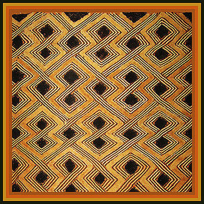 Digital Art - African Kuba Design by Vagabond Folk Art - Virginia Vivier