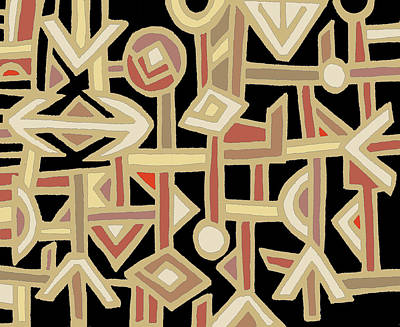 Digital Art - African Kuba Folk Art by Vagabond Folk Art - Virginia Vivier