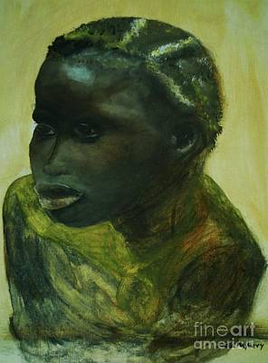 Painting - African Lady by Paula Maybery