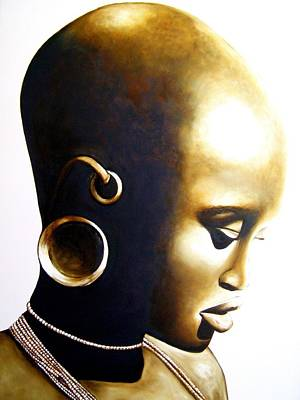 Painting - African Lady - Original Artwork by Tracey Armstrong