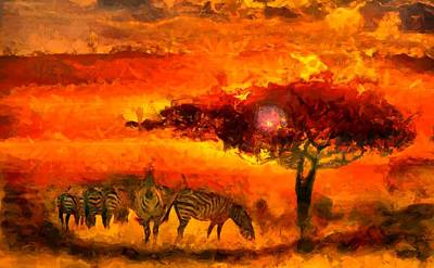 Digital Art - African Landscape by Caito Junqueira