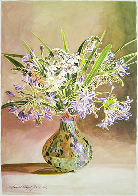 Lilies Royalty-Free and Rights-Managed Images - African Lilies Arrangement by David Lloyd Glover