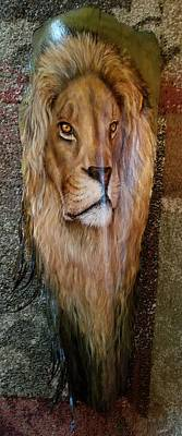 Painting - African Lion 2 by Nancy Lauby