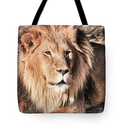 Photograph - African Lion- Lazarus-tote by Donna Kennedy