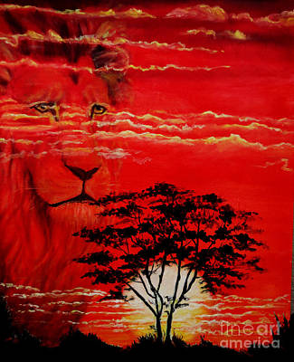- African Lion Sunset by Ruanna Sion Shadd a'Dann'l Yoder