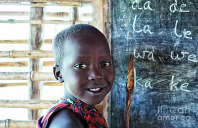 Photograph - Maasai School Child by Amyn Nasser