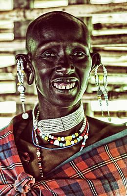 African Maasai Teacher Original by Amyn Nasser