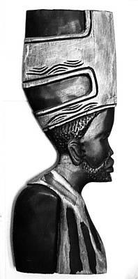 African Man Headress Art Print by Sheryl Chapman Photography