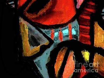 Robert Daniels Painting - African Mask by Robert Daniels