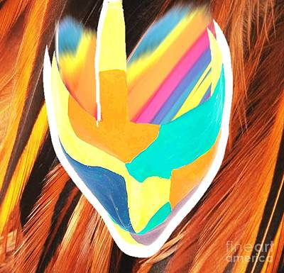 Painting - African Multi Color Mask by Belinda Threeths