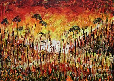 Painting - African Nights by Dariusz Orszulik