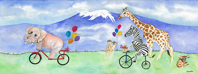 Meerkat Painting - African Party The Mural by Kimberly Lavelle