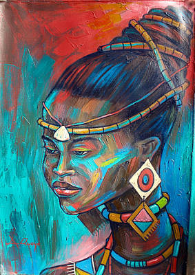 Painting - African Princess by Amakai