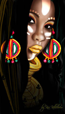 African-american Digital Art - African Princess by Kia Kelliebrew