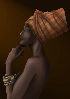 Etnic Art Painting - African Queen by Jose Francisco Garcia Abad
