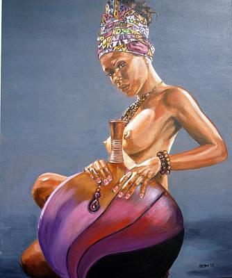 African Queen Art Print by Bryan Bustard