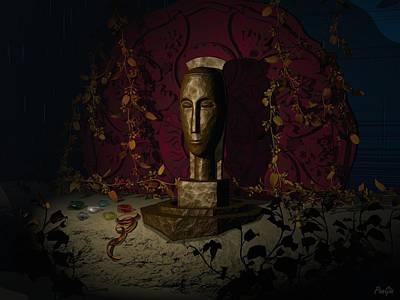 Digital Art - African Queen by John Pangia