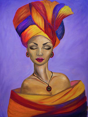 Painting - African Queen by Lilia D