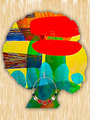 African American Mixed Media - African Queen by Marvin Blaine