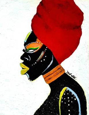 Art Print featuring the painting African Queen by Tarra Louis-Charles