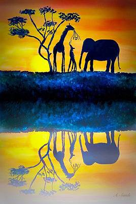 Painting - African Reflection by Anne Sands