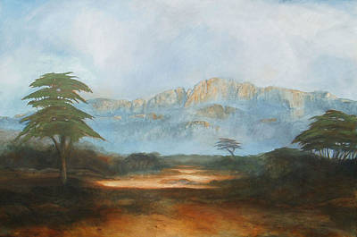 African Riverbed Art Print by William Stanton