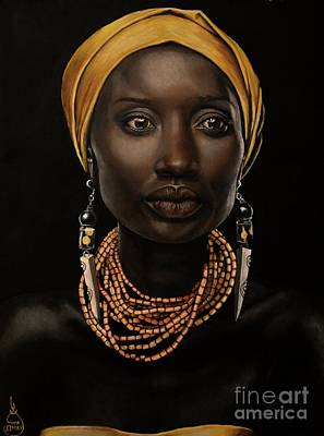Africa Painting - African Royalty by Eiman A