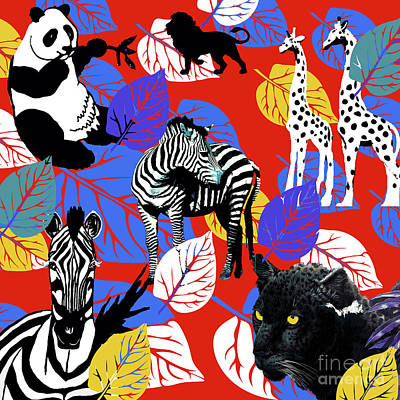 Painting - African Safari Dream by Saundra Myles