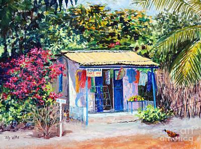 African Shop Art Print