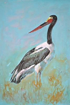 Painting - African Stork by Khalid Saeed