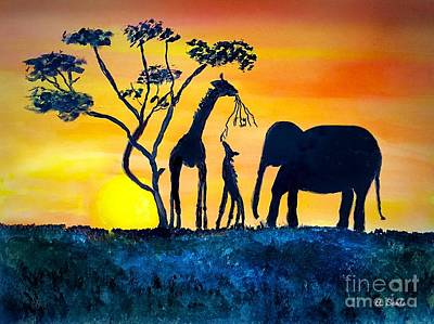 Painting - African Sun by Anne Sands