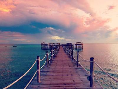 Photograph - African Sunrise Cotton Candy Skies by Exploramum Exploramum